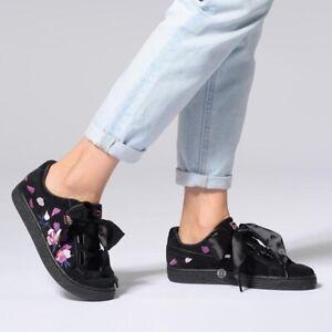 Women Suede Heart Flowery Puma Sneakers