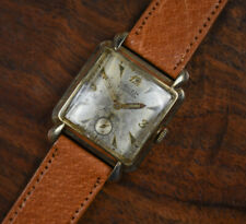 Vintage GRUEN Bumper Automatic Precision Gold Filled Men's Watch Leather Band
