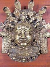 Casted Bronze Mahakala God of Death Mask