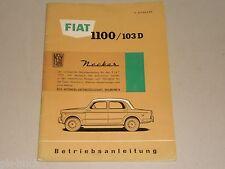 Mode D 'em Ploi Manuel Fiat (NSU) 1100/103 D + Goulot, Support 05/1959