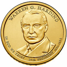 2014 P  $1 Warren G. Harding - 29th U.S. President - BU