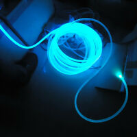 Side Glow Fiber Optic PMMA Plastic Cable 100m 6.0mm for LED Lights Source Driver