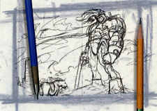 Ash Artist Sketch Card 4 Past, Present and Future