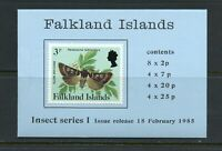 X743 Falkland Islands 1985  insects series 1  COMPLETE BOOKLET    MNH