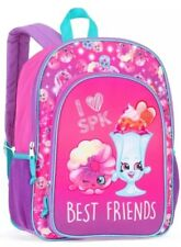 """Shopkins Kids Full Size Backpack Bookbag Girl's School Bag 16"""" Pink"""