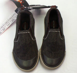 Harley-Davidson Toddler Boys Slip-On Shoes - Canvas Motorcycle Sneakers