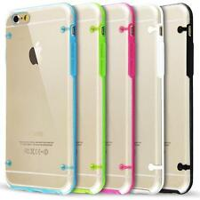 Clear PC and TPU Gel Silicone Bumper Case Cover For iPhone 6/6S
