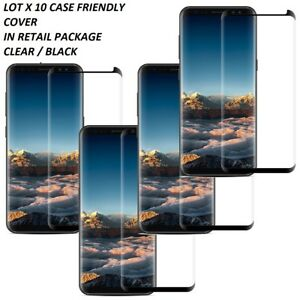 LOT 10 Tempered Glass Screen Protector Samsung S8/S20 PLUS Note 9 CASE FRIENDLY