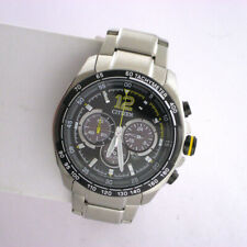 Citizen Eco-Drive CA4234-51E Stainless Chronograph Link Quartz Analog Watch