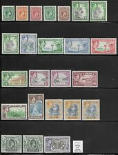 More details for jamaica 1938-52 set of 18 + perf. & shade varieties f-vf lhm sg 121/133a cv £220