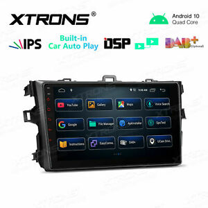 """9"""" Android 10 Car GPS Stereo DSP CarAutoPlay IPS For Toyota Corolla 2007-2013"""