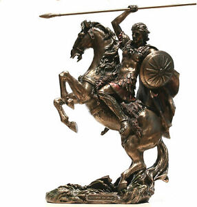 Alexander the Great Greek King Warrior (Cold Cast Bronze Statue 31.5cm/ 12.4')