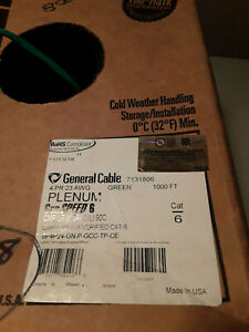 General Cable 7131806 4 Pair 23 AWG CMP CAT6 - Green Pull-Pac 568 ft.