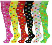 6 Pairs Women Assorted Polka Dot Colorful Thigh High Over The Knee Socks 9-11