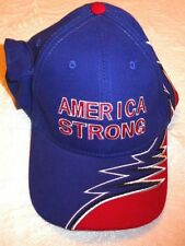 LOT OF 10 AMERICA STONG BASEBALL CAPS SOUND MUSIC NATIONAL ANTHEM RED WHITE BLUE