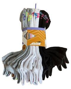 NEW AVIA Performance Socks 12 Pairs Gray Black White