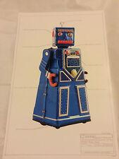 """Stampa #14 ROBOT JAPAN TIN classico dello spazio 17""""x11"""" Ray Gun Gancio ROBOT 1955 Nuovo di zecca"""