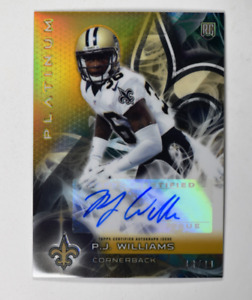2015 Topps Platinum Autographs Gold Refractors #ARPW P.J. Williams Auto /99