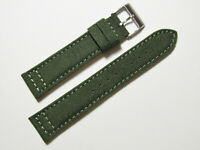 22mm Hadley-Roma MS850 Mens Army Olive Green Cordura Canvas Watch Band Strap