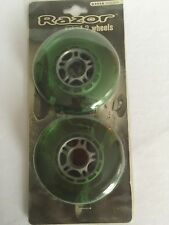Razor Scooter Wheels Set of 2 Wheels 6101a Green Tire Replacement NEW