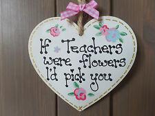 School Teacher Gift End of Term present Thank You Keepsake Classroom Plaque Sign
