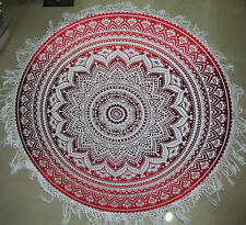 Hippie Indian Ombre Mandala Round Roundie Beach Towel Throw Tapestry Yoga Mat #h