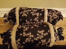 Neckroll Pillows Set of 2 Deep Black/Multi - never used