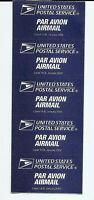 US Airmail Par Avion Etiquette Label 19-B 2002 - Self Adhesive MINT - Pane of 5