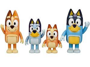 Bluey & Family Playset Bingo Mum Dad 4 Pack Figure Cake Topper Toy Doll Set