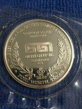 1 oz 2018 TEXAS RANGERS Co.A Rounds .999 fine silver I594