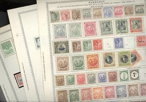 BARBADOS, BASUTOLAND, Excellent Stamp Collection hinged on Minkus pages