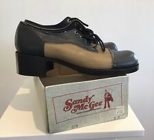 Sandy Mcgee Vintage Shoes New Old Stock Nos Two-tone Square Cap Men's