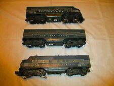 1948  VINTAGE LIONEL #2333 NEW YORK CENTRAL F3  A-B-A- DIESEL UNITS. EXTREMELY G