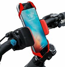 Widras Bike Cell Phone Holder | Universal Bicycle Mount | Red Cradle Clamp for i
