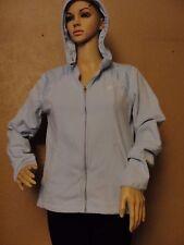 Sz M ADIDAS Pale Baby Blue Fleece Lightweight Warm sweatshirt/hoodie/ jacket zip