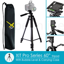 "60"" Aluminum Tripod + Head For Nikon D5600 D5500 D5300 D3400 D3300 DSLR Camera"