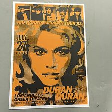 DURAN DURAN - CONCERT POSTER LOS ANGELES GREEK THEATRE 27TH JULY 1982 (A3 SIZE)