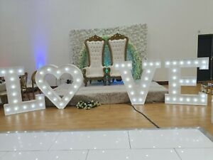 HIRE 4ft Giant LED LOVE Large Light Up Letters for Weddings - Lancashire SPECIAL