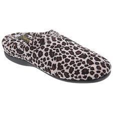 Animal Print Slippers Women's Textile Scuffs