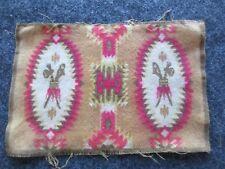 Circa 1910, Tobacco Felt, Native American Themed Flannel Mini Rug, # Buf-003080