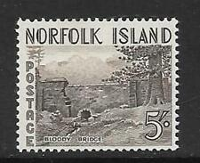 NORFOLK ISLAND SG18 1953 5/- SEPIA MNH