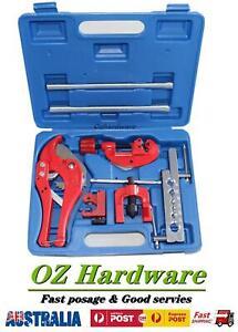 9Pcs Flare Flaring tool kit set Pipe cutter 180° 3 in 1 Tube Bend Plumbing Tools