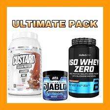 Muscle Nation CUSTARD CASEIN  + ANS Diablo V2   Fat Burner + Iso Whey Protein  
