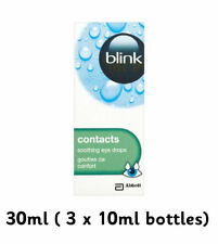 Blink Contacts Contact Lens Comfort Soothing Eye Drops X3 10ml Bottles