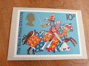 Edward Plantagenet  ( the Black Prince ) - 1974 Royal Mail Stamp Postcard