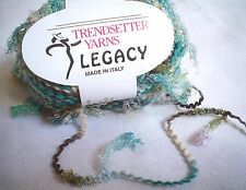 Trendsetter LEGACY Yarn Moonglow with fun SPRINGY MESH FLAGS 50 Grams