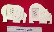 Tupperware Magnets lot 2 Nuzzles White Elephant Bear plastic Photo Frame CUTE y1