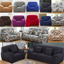 1-4 Seaters Floral Modern Stretch Sofa Cover Slipcover Anti-dirt Settee Washable