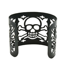 Cuff Jewelry Wide Hollow-out Skull Bracelet Metal Bangle Punk Style