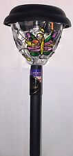 Butterfly Hand Painted Colour Changing Solar Stake Stick Light